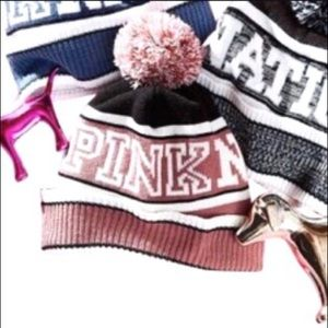 NWOT VS PINK Nation Knit Pom Pom Hat